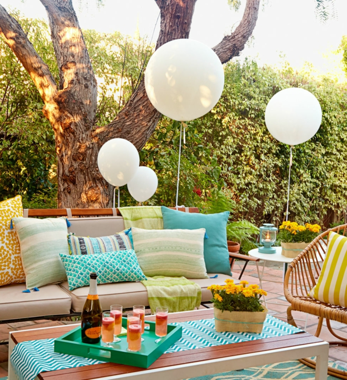 party decoration ideas colored pattern balloons fresh