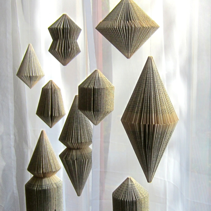 Christmas decorations made of paper homemade