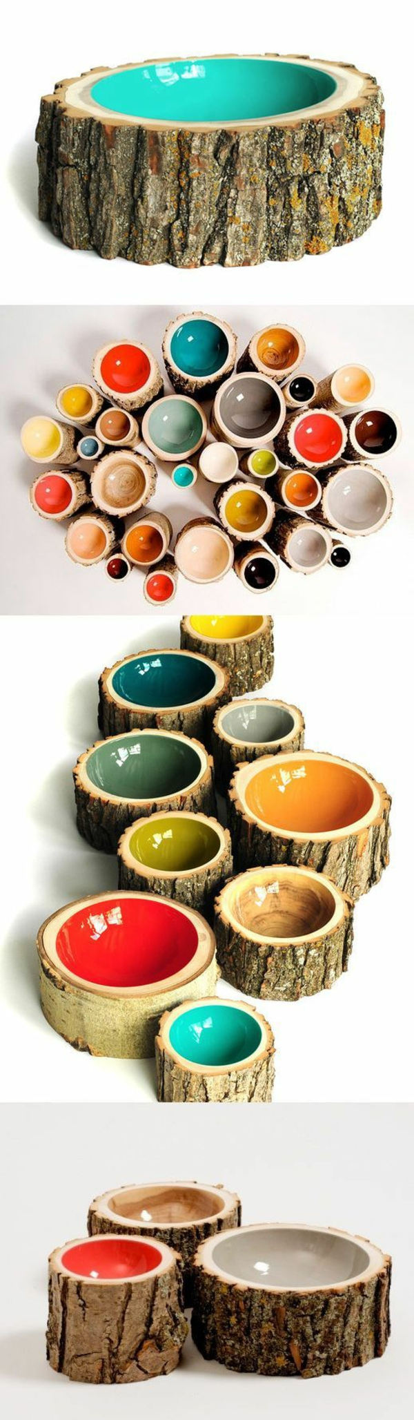 tree trunk decoration diy projects painted