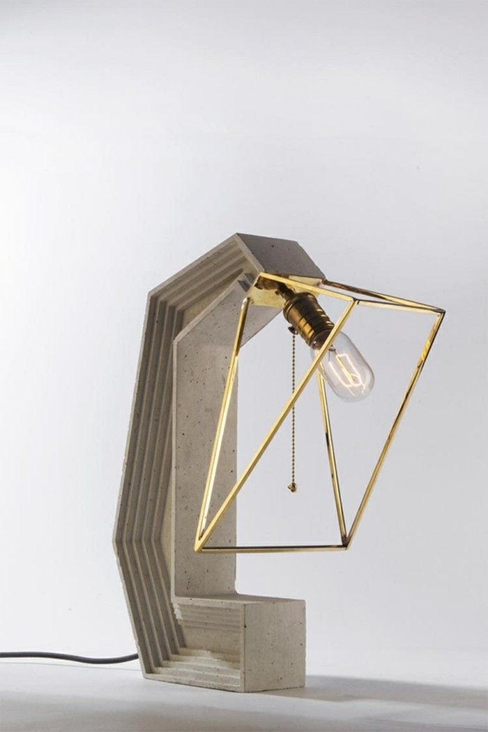 lamps made of concrete ideas