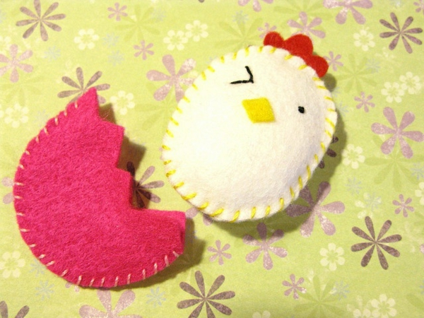 easter decoration sew chicks egg decoration ideas
