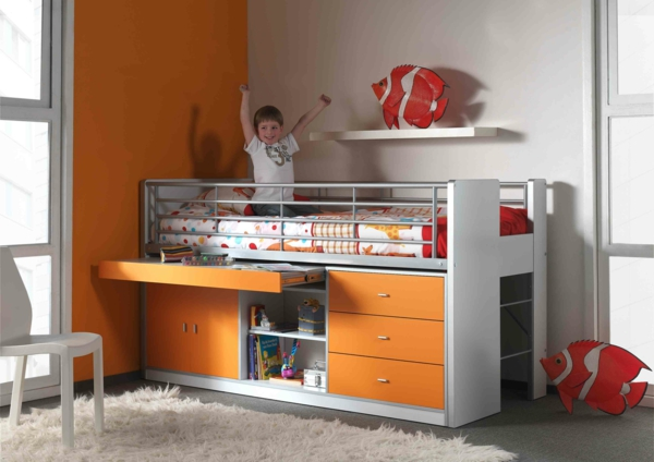 Small children's room set up baby bed boy nursery ideas BOHS9511ORANGE