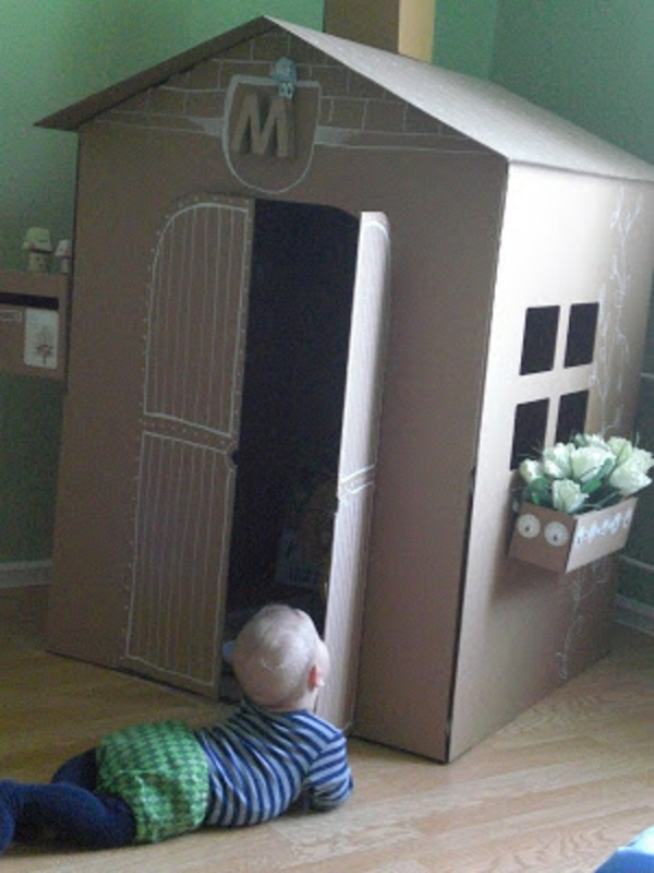 cardboard house ikea playhouse cardboard