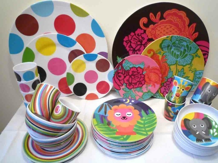 Dishes made of melamine