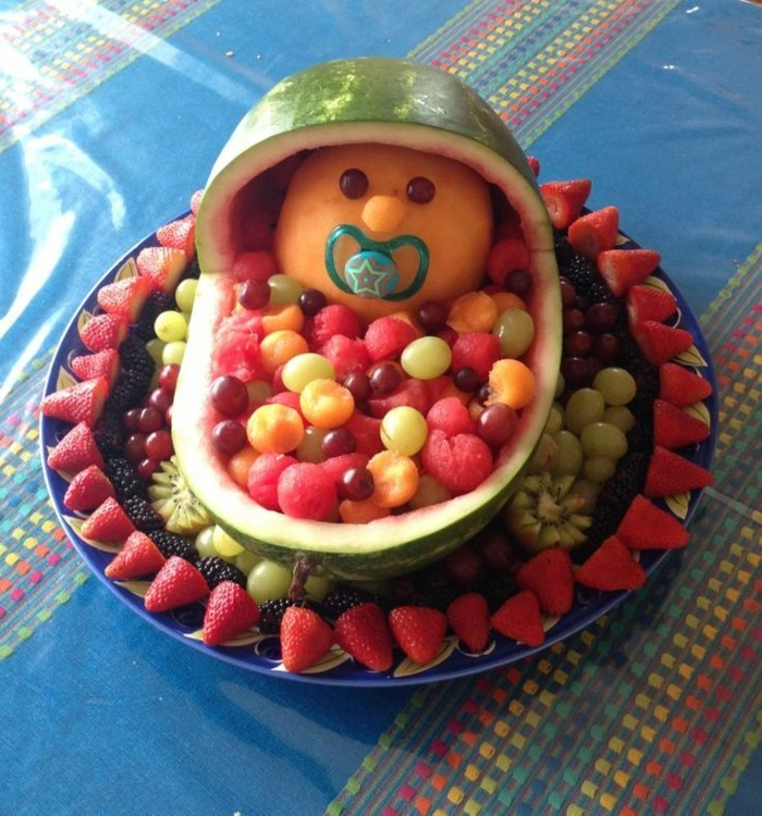 fruit decoration watermelon carving strawberries