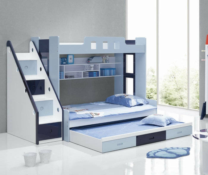 nursery furniture blue shades design roll-away bed