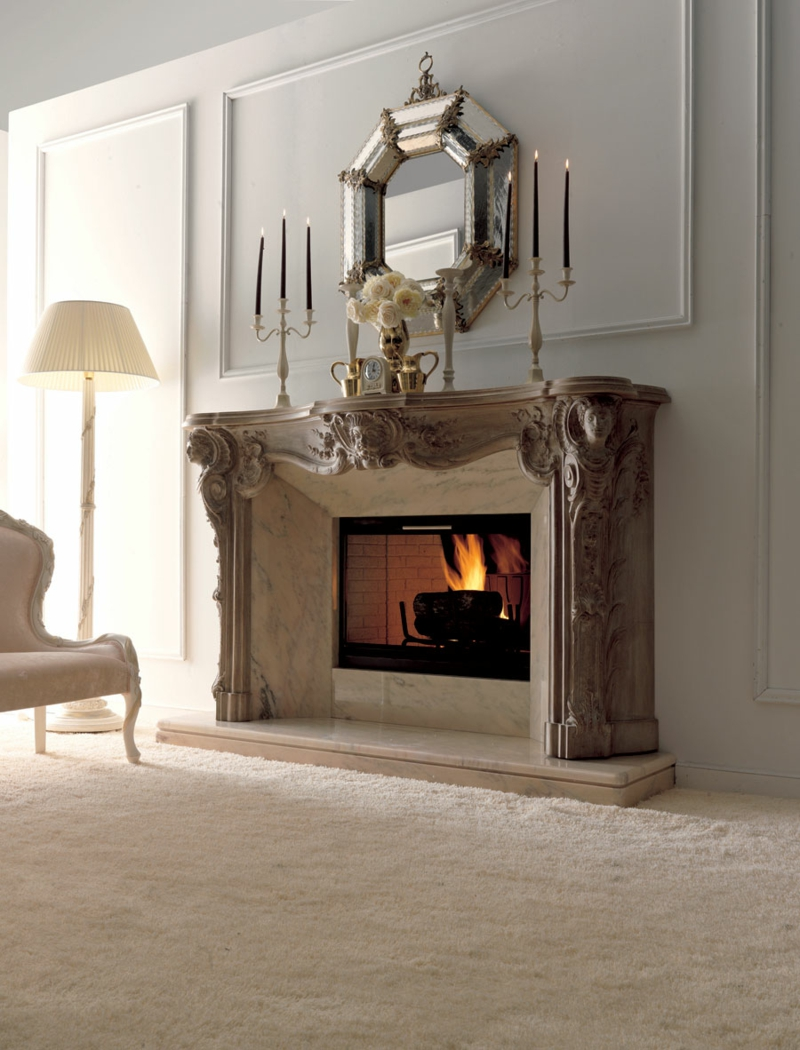 Fireplace Decoration Ideas Colonial Style Home Decor Living Room