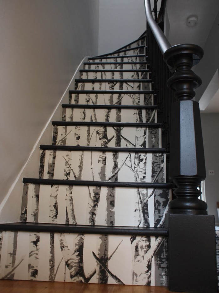 interior design wallpapers stairs shape wallpaper pattern