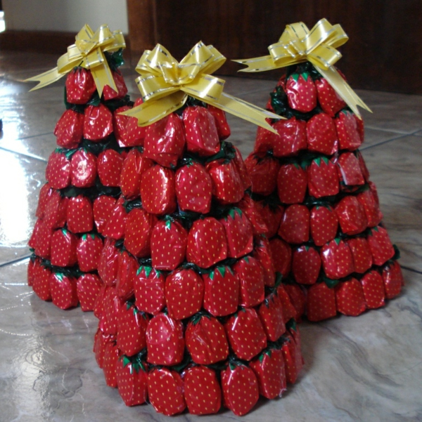 christmas decoration tropical style sweets chewy strawberry