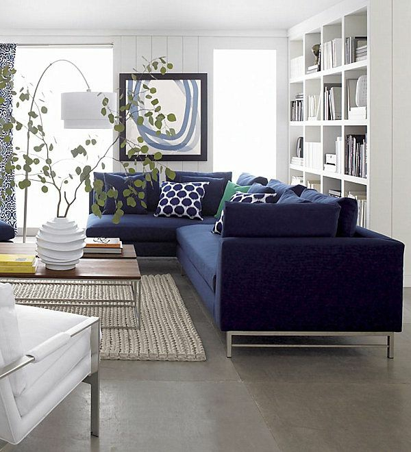 living room sofa blue throw pillow