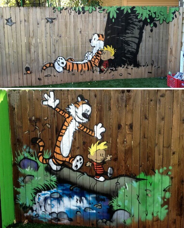 Decorating ideas with favorite heroes for the fence