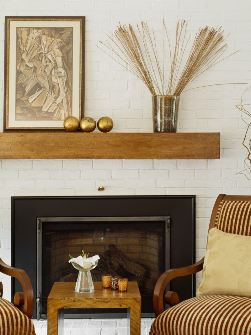 Furnishing ideas living room rustic wall design fireplace decoration
