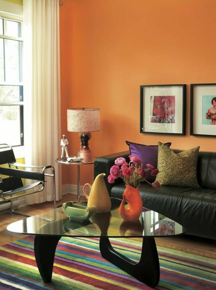 wall colors ideas furnishing examples wood orange white pictures