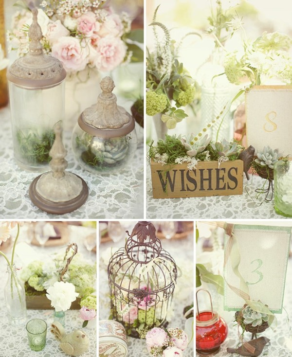 make old cages table decoration shabby chic deco yourself