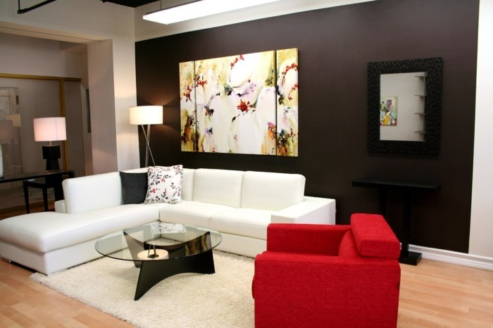 Living room wall decorating with pictures