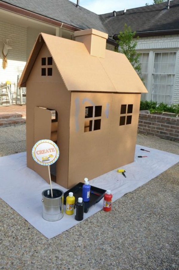 play house cardboard house play house yourself