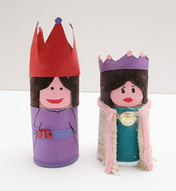 tinkering with toilet paper rolls diy ideas decorating ideas tinker with children king and queen