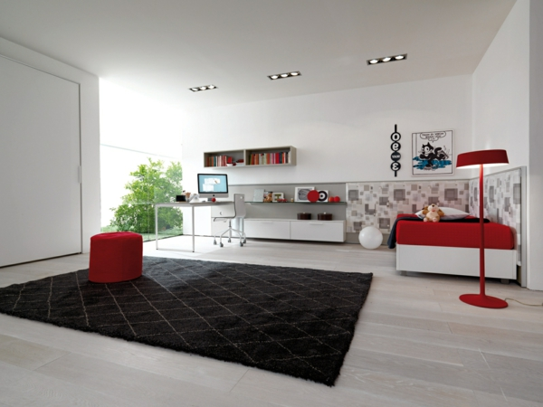modern design of youth rooms spacious
