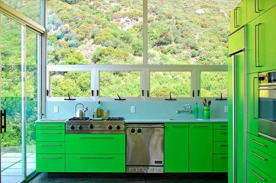 color ideas for kitchen green fresh nature window light