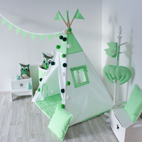 Build a play corner for the children's room with Spielzelz and tipi tent yourself