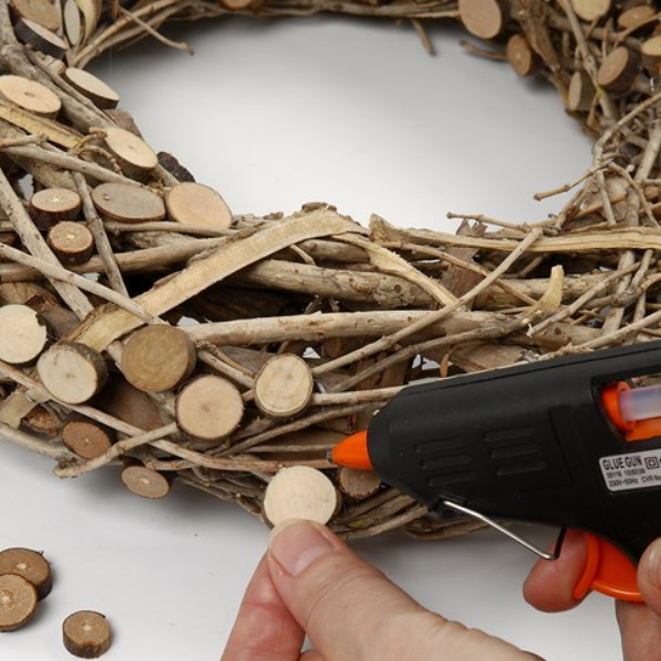 diy idea advent wreath wood process