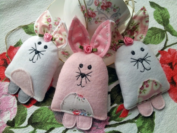 easter decoration sew easter bunnies beautiful deco ideas