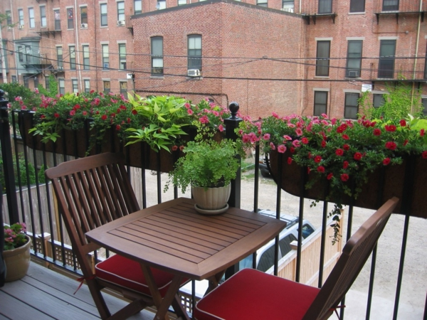 small balcony balcony table foldable flower box plants