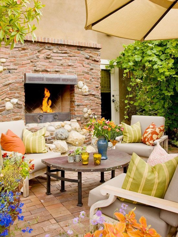 atmosphere in the garden create hearth stone pavement table throw pillow