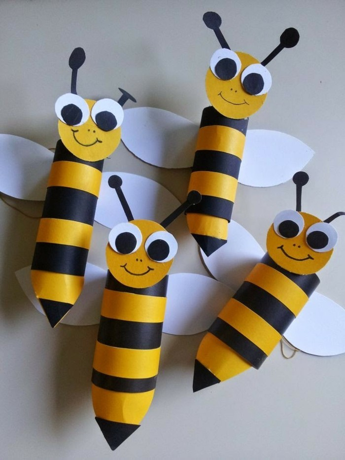 tinkering with toilet paper rolls diy ideas decorating ideas with kids bees