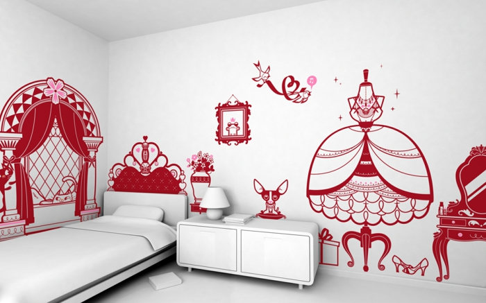 wall decals nursery fancy wall design white furniture