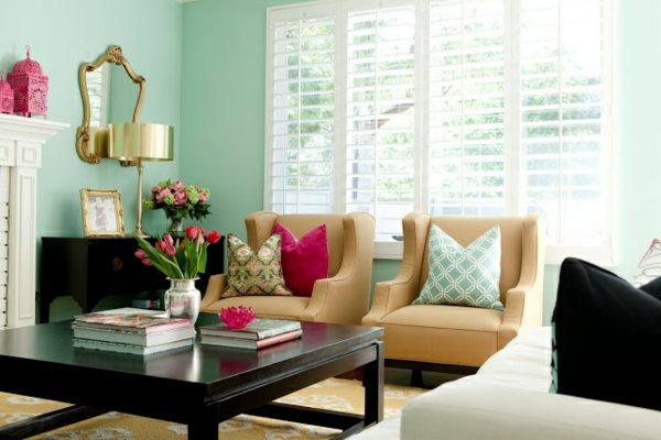 mint green living room interesting color suggestions