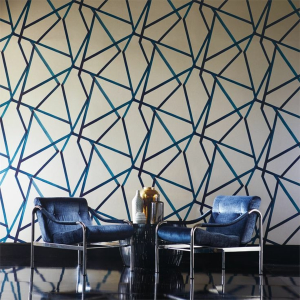 wallpaper pattern Harlequin design wallcovering