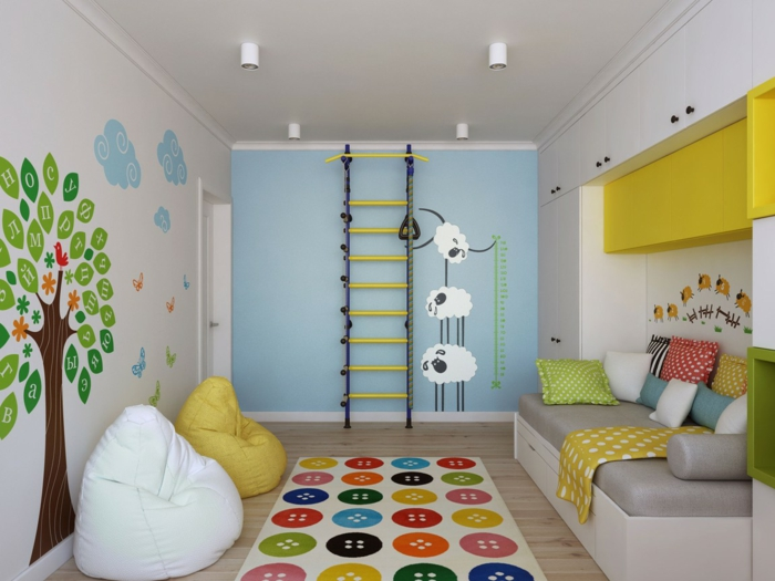 wall decals colored wall design nursery living room wall decoration