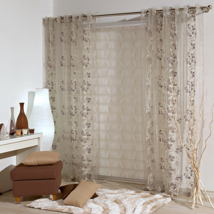 curtains fabrics curtains floral pattern neutral colors transparent