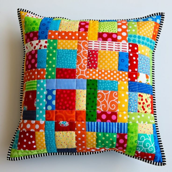 patchwork fabrics throw pillow beautiful deco ideas