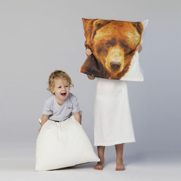 Creative Throw pillows and pillow bear head