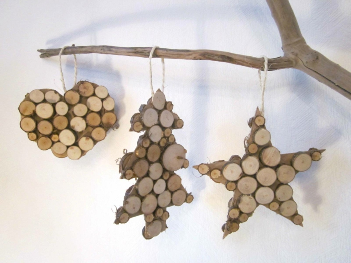 Christmas decorations made of wood