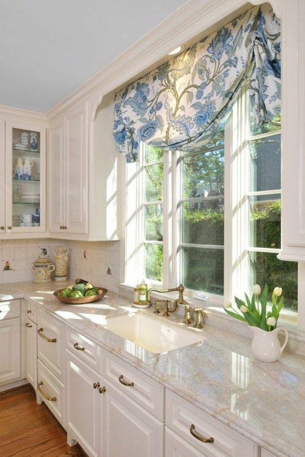 floral curtains for the kitchen