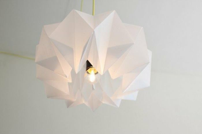 paper lamps hanging lamp origami abstract white