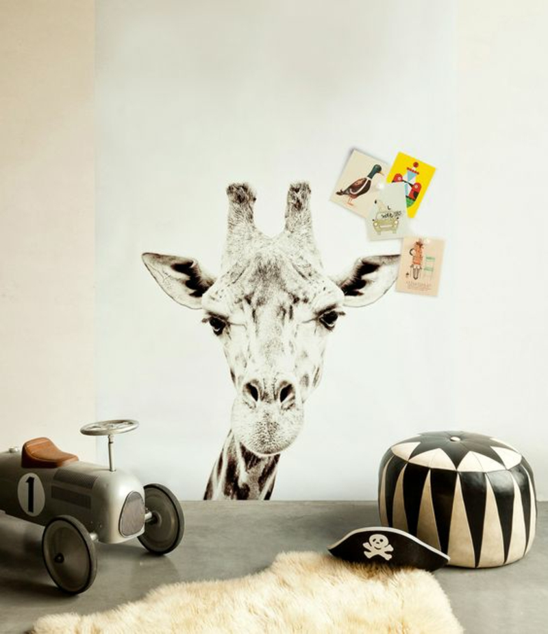 Pattern wallpaper giraffe wallpaper nursery frame