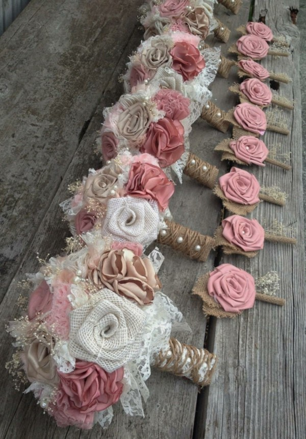 bridal bouquet shabby chic deco itself make with pearls rose plucking