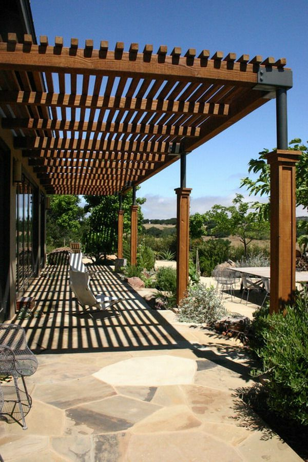 patio canopy wooden chairs