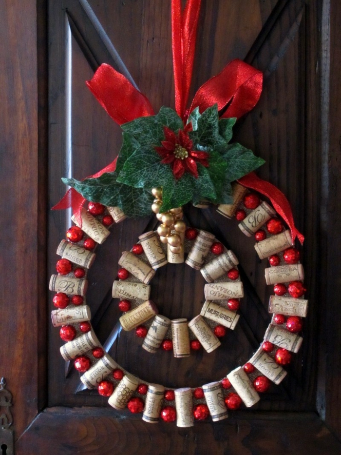 make christmas ideas christmas cork christmas wreath yourself