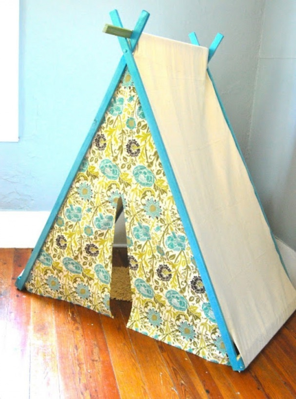 playful tents for kids floral yellow