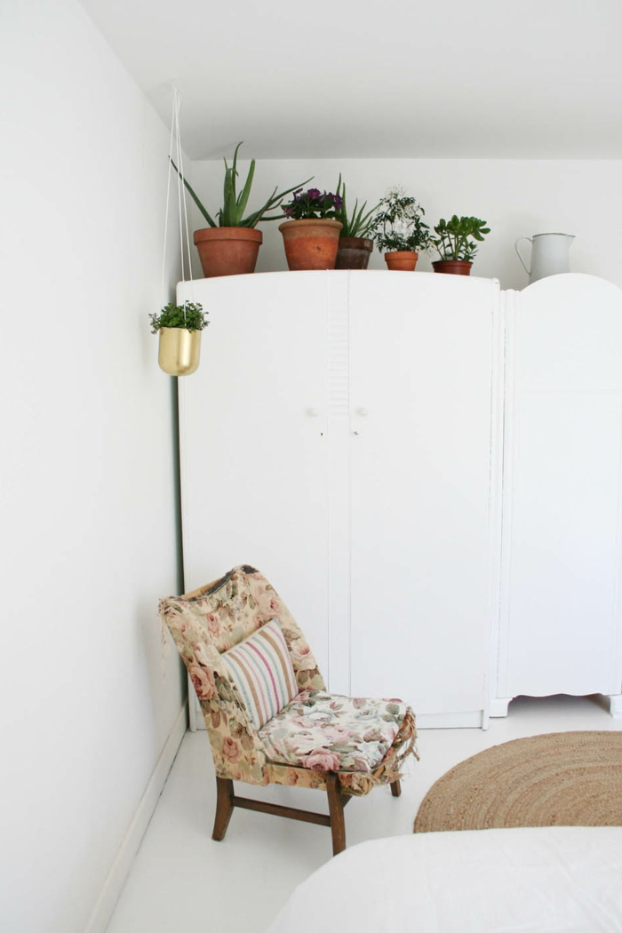 flat decorate bedroom decorate pot plants white walls