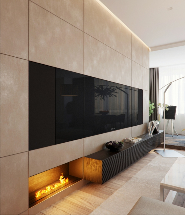 sumptuous modern living room designs fireplace space mediaraum