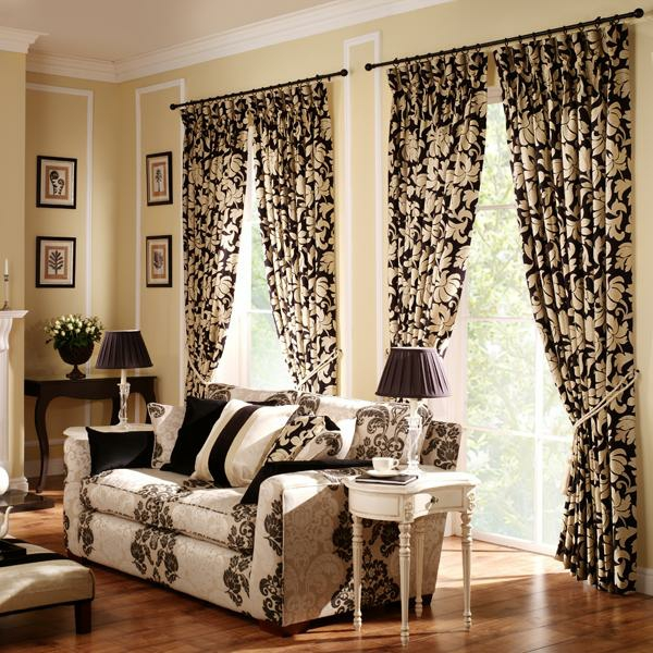 pattern curtains for the living room