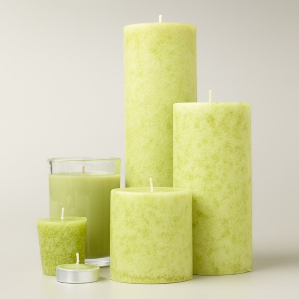 symbol candles light green stylish decoration home