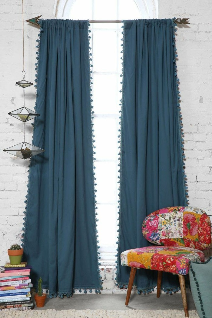 privacy protection fancy pom pom curtains spice up the room