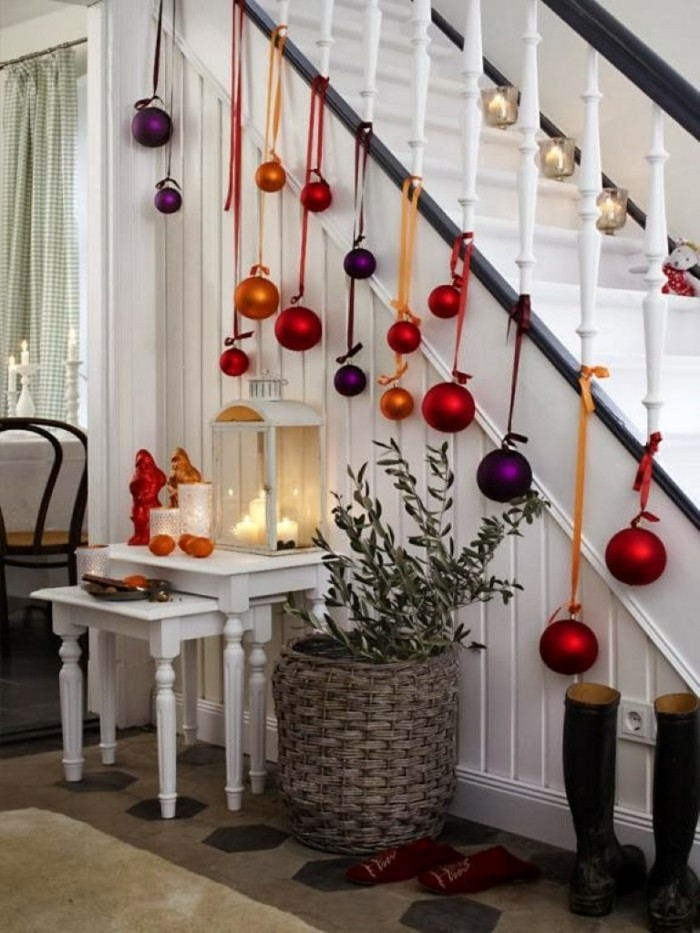 staircase decorate deco christmas
